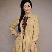 Одежда handmade. Livemaster - original item Stylish linen dress