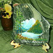 Сувениры и подарки handmade. Livemaster - original item Panels made of natural stone Painting stone. Handmade.