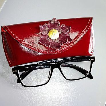 Аксессуары ручной работы. Ярмарка Мастеров - ручная работа Футляр для очков из натуральной кожи. Handmade.