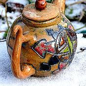 """Посуда ручной работы. Ярмарка Мастеров - ручная работа Чайник """"Роза ветров"""". Handmade."""