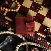 Кошельки ручной работы. Ярмарка Мастеров - ручная работа Кошелек из натуральной кожи с отделением для монет -PRIDE- цвет Коньяк. Handmade.