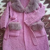 """Одежда ручной работы. Ярмарка Мастеров - ручная работа Вязаное пальто с мехом """"Уютная осень"""". Handmade."""