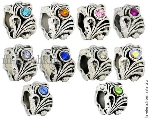 Бусины для браслетов пандора серебро, шармы. Разные 3, Бусины, Москва, Фото №1