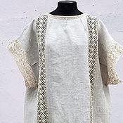 Платья ручной работы. Ярмарка Мастеров - ручная работа Бохо платье кокон из конопли, оверсайз. Handmade.