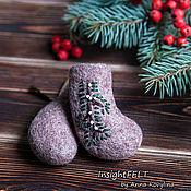 Подарки к праздникам ручной работы. Ярмарка Мастеров - ручная работа Мини-валеночки с вышивкой. Handmade.