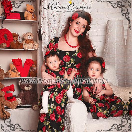 Платья ручной работы. Ярмарка Мастеров - ручная работа. Купить Family look (одинаковые платья для мамы и дочки) Арт.118. Handmade.