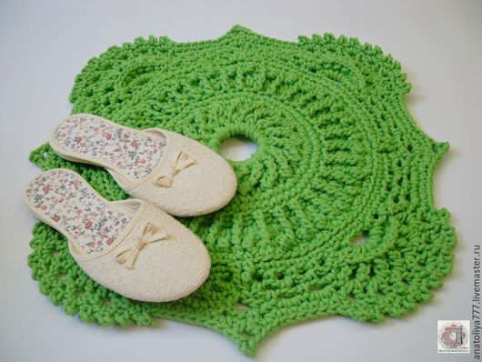 Текстиль, ковры ручной работы. Ярмарка Мастеров - ручная работа. Купить Коврик прикроватный ручной работы  из шнура Малыш. Handmade.