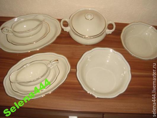 Винтажная посуда. Ярмарка Мастеров - ручная работа. Купить сервиз столовый 12 персон старинный   БАВАРИЯ. Handmade. Бежевый