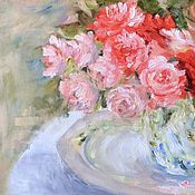 Картины и панно handmade. Livemaster - original item oil painting Bouquet of roses. Buy impressionism oil painting. Handmade.