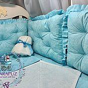 Текстиль ручной работы. Ярмарка Мастеров - ручная работа Бортики в детскую кроватку. Handmade.