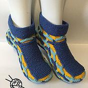 Тапочки ручной работы. Ярмарка Мастеров - ручная работа Тапочки-носочки. Handmade.