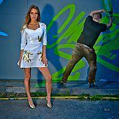 Одежда ручной работы. Ярмарка Мастеров - ручная работа Платье белое с золотыми ручками. Handmade.