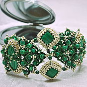 Украшения handmade. Livemaster - original item Elegant bracelet from jewelry lace with malachite `emerald city`. Handmade.