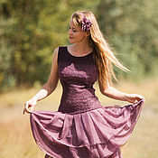 """Одежда ручной работы. Ярмарка Мастеров - ручная работа Валяное платье """"Кокетка"""". Handmade."""