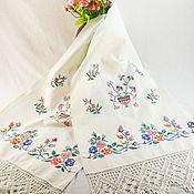 Для дома и интерьера handmade. Livemaster - original item Embroidered vintage towel 50 years. Handmade.