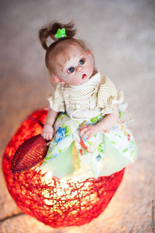 Куклы-младенцы и reborn ручной работы. Ярмарка Мастеров - ручная работа. Купить цветочная эльфиечка,кукла реборн. Handmade. Кремовый