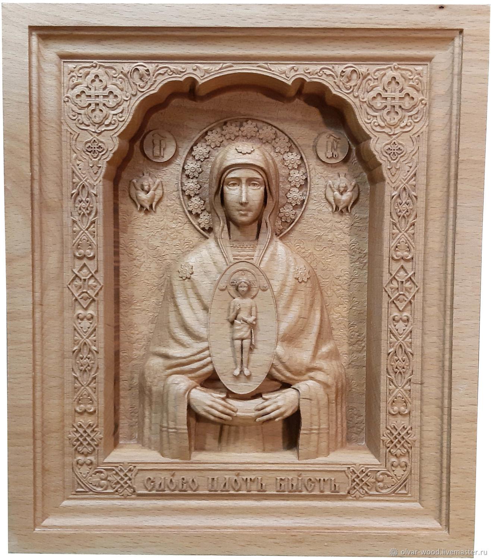 Резная икона Божией Матери Албазинская, Иконы, Москва,  Фото №1