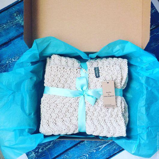 Для новорожденных, ручной работы. Ярмарка Мастеров - ручная работа. Купить Плед-одеяло 80х90. Handmade. Плед для новорожденного, бежевый