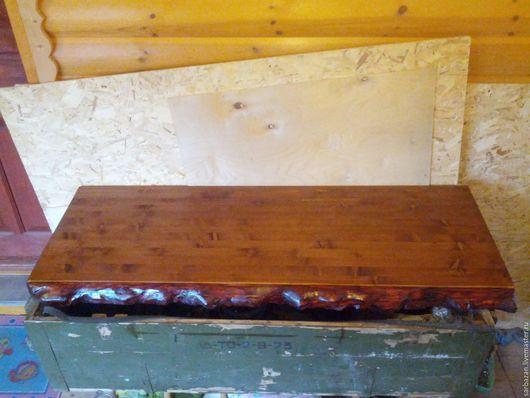 Мебель ручной работы. Ярмарка Мастеров - ручная работа. Купить Столешница,двухсторонняя.Дерево.Ручная авторская работа. Handmade. Коричневый