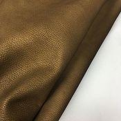 Кожа ручной работы. Ярмарка Мастеров - ручная работа Шевро Натуральная  Итальянская кожа галантерейная коричнево-золотая. Handmade.