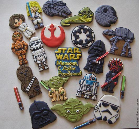 Кулинарные сувениры ручной работы. Ярмарка Мастеров - ручная работа. Купить Звездные войны / Star Wars печенье / пряники. Handmade.