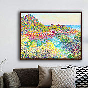 "Картины и панно handmade. Livemaster - original item Painting "" Landscape near Montecarlo "" ( Cc . Claude Monet ). Handmade."