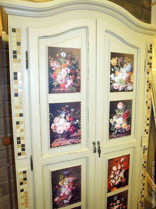 """Мебель ручной работы. Ярмарка Мастеров - ручная работа. Купить Комната """"Фламандские цветы"""". Handmade. Комод, Шкаф с зеркалом"""