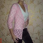 Одежда handmade. Livemaster - original item Pink fishnet blouse. Handmade.
