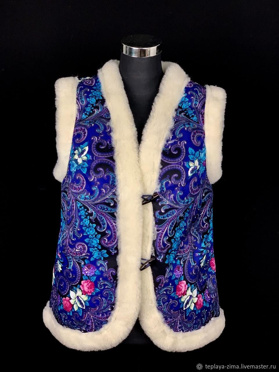 Vests of wool, decorated with classic pattern, Vests, Mozdok,  Фото №1
