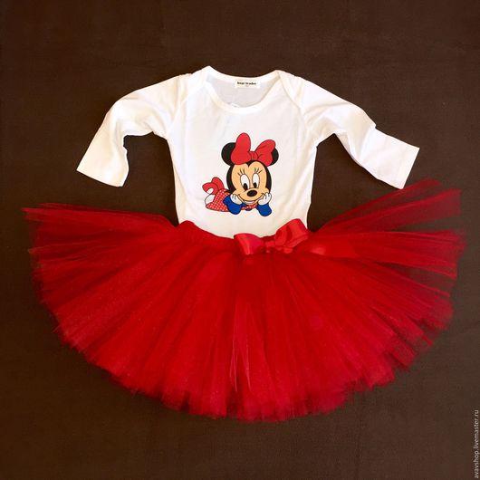 Одежда для девочек, ручной работы. Ярмарка Мастеров - ручная работа. Купить Юбка-пачка из фатина. Handmade. Ярко-красный