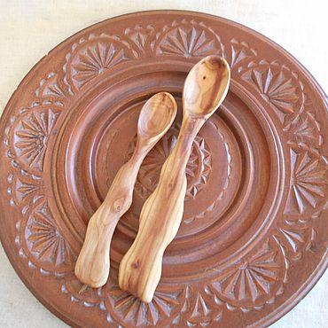 Посуда ручной работы. Ярмарка Мастеров - ручная работа Ложки деревянные. Абрикосовые. Набор 2 шт.. Handmade.