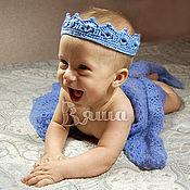 Работы для детей, ручной работы. Ярмарка Мастеров - ручная работа Комплект для фотосессии Морской король вязаный, для новорожденных. Handmade.