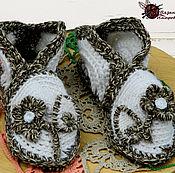 """Обувь ручной работы. Ярмарка Мастеров - ручная работа Вязаные тапочки в стиле бохо """"Фантазийный цветок"""". Handmade."""