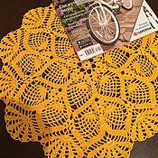 Для дома и интерьера ручной работы. Ярмарка Мастеров - ручная работа Салфетка желтая 40 см. Handmade.