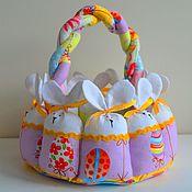 Для дома и интерьера ручной работы. Ярмарка Мастеров - ручная работа Корзинка пасхальная с кроликами. Handmade.