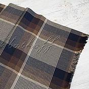 Аксессуары handmade. Livemaster - original item Classic men`s brown plaid scarf. Handmade.