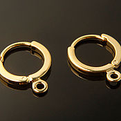 Материалы для творчества handmade. Livemaster - original item Earrings rings gold plated South Korea (art. 741). Handmade.