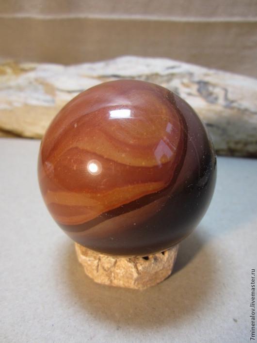 """Статуэтки ручной работы. Ярмарка Мастеров - ручная работа. Купить 55мм. Яшма Шар """"Цвет кофе"""" Природный камень. Handmade."""