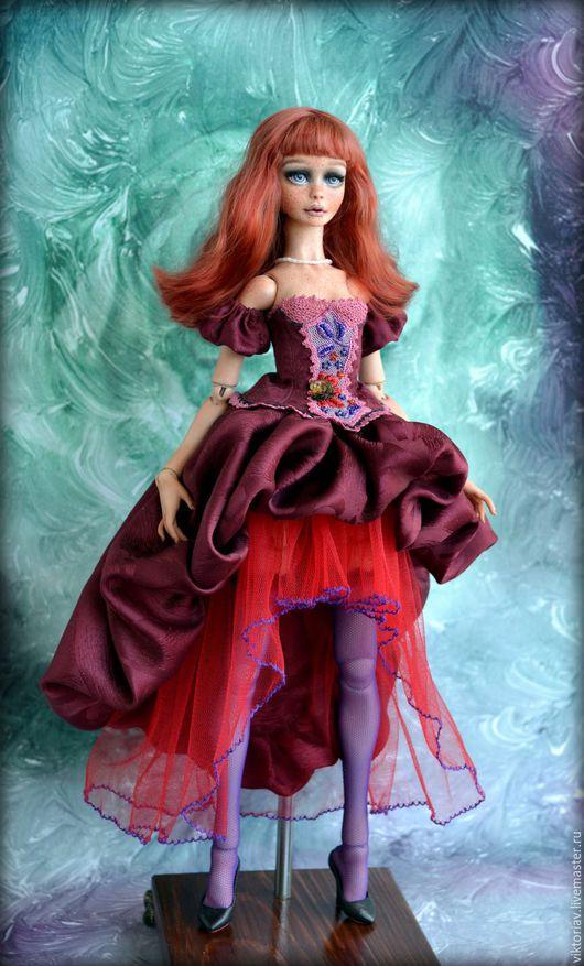 Коллекционные куклы ручной работы. Ярмарка Мастеров - ручная работа. Купить КатИ, фарфоровая шарнирная кукла РЕЗЕРВ. Handmade. Бежевый