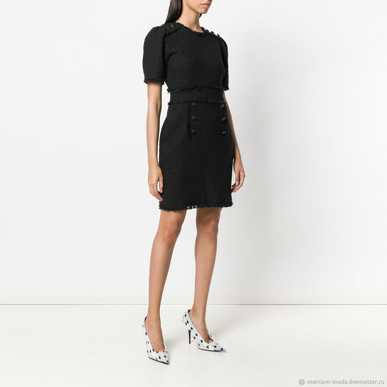 Платья ручной работы. Ярмарка Мастеров - ручная работа. Купить Платье Габриэль. Handmade. Черный, черное платье, платье шанель