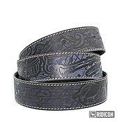 Аксессуары handmade. Livemaster - original item The Music strap dark blue. Handmade.