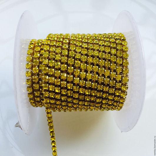 Для украшений ручной работы. Ярмарка Мастеров - ручная работа. Купить Густая стразовая лента- 2,5 мм. Handmade.