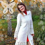 Одежда ручной работы. Ярмарка Мастеров - ручная работа Авторское белое ажурное пальто.. Handmade.