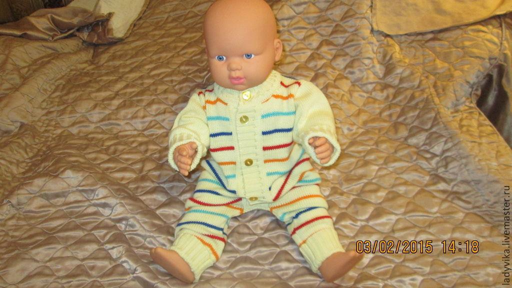 Одежда ручной работы. Ярмарка Мастеров - ручная работа. Купить Комплект для малыша. Handmade. Желтый, комбинезон детский, комплект для мальчика