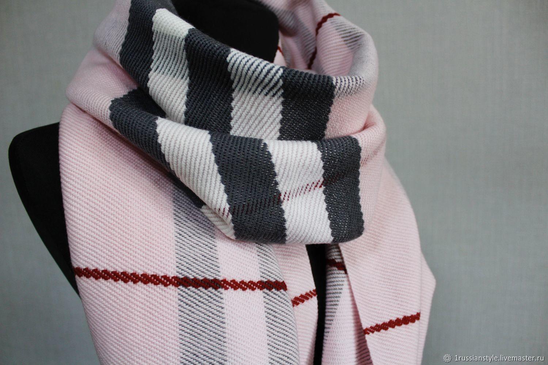 Woven scarf. Merino. Hand weaving, Scarves, Aprelevka,  Фото №1