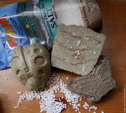 """Мыло ручной работы. Ярмарка Мастеров - ручная работа. Купить Мыло """"СОЛЯНОЕ"""" (ГС, с солью Мертвого моря). Handmade. Серый"""