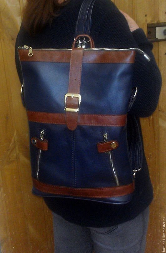 Рюкзаки ручной работы. Ярмарка Мастеров - ручная работа. Купить Рюкзак-сумка 71. Handmade. Разноцветный, рюкзак городской
