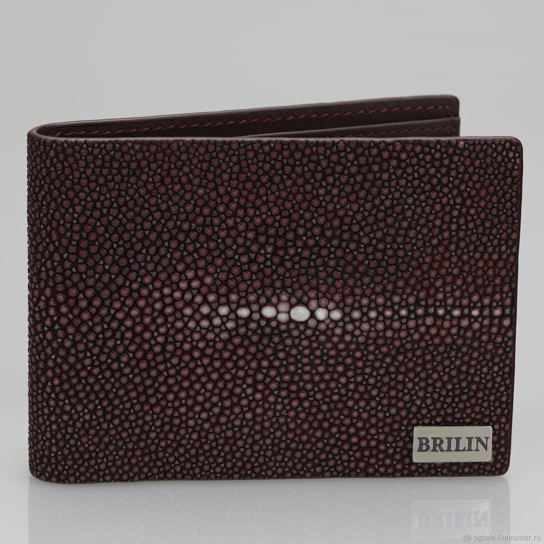 Wallets & Business Card Holders handmade. Livemaster - handmade. Buy Wallet leather Stingray premium.Genuine leather