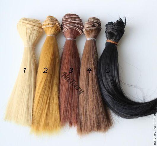 Куклы и игрушки ручной работы. Ярмарка Мастеров - ручная работа. Купить Волосы для кукол 15 см трессы прямые. Handmade.