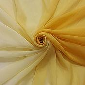Ткани ручной работы. Ярмарка Мастеров - ручная работа Шифон градиент желтый Италия. Handmade.